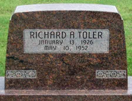 TOLER, RICHARD A. - Dundy County, Nebraska | RICHARD A. TOLER - Nebraska Gravestone Photos