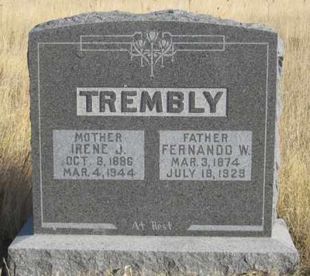 TREMBLY, FERNANDO W. - Dundy County, Nebraska | FERNANDO W. TREMBLY - Nebraska Gravestone Photos