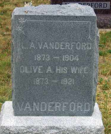 CLARK VANDERFORD, OLIVE ANETTA - Dundy County, Nebraska | OLIVE ANETTA CLARK VANDERFORD - Nebraska Gravestone Photos