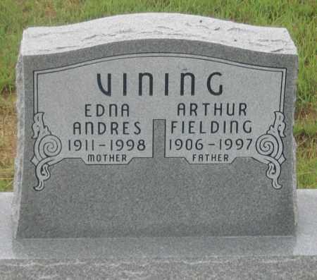 VINING, EDNA ANDRES - Dundy County, Nebraska | EDNA ANDRES VINING - Nebraska Gravestone Photos