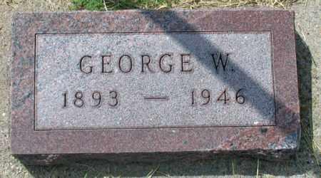 WALLACE, GEORGE W. - Dundy County, Nebraska | GEORGE W. WALLACE - Nebraska Gravestone Photos