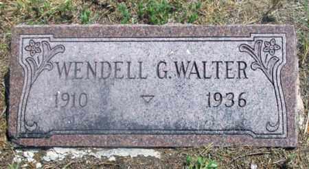 WALTER, WENDELL GEORGE - Dundy County, Nebraska | WENDELL GEORGE WALTER - Nebraska Gravestone Photos