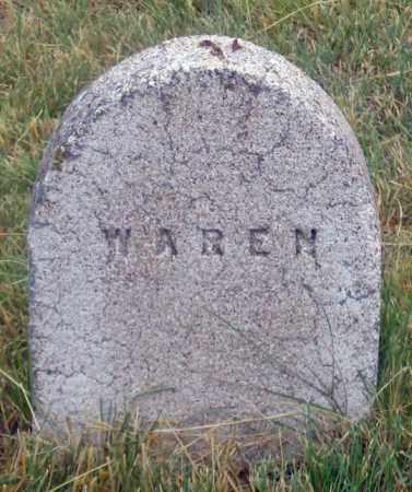 WAREN (WARREN?), INFANT - Dundy County, Nebraska | INFANT WAREN (WARREN?) - Nebraska Gravestone Photos
