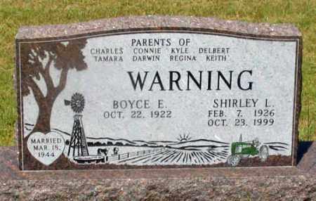 WARNING, BOYCE E. - Dundy County, Nebraska | BOYCE E. WARNING - Nebraska Gravestone Photos
