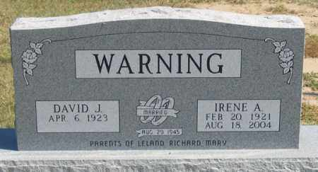 WARNING, DAVID J. - Dundy County, Nebraska | DAVID J. WARNING - Nebraska Gravestone Photos