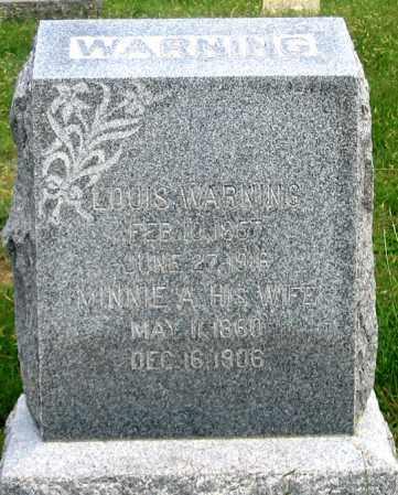 WARNING, MINNIE A. - Dundy County, Nebraska | MINNIE A. WARNING - Nebraska Gravestone Photos