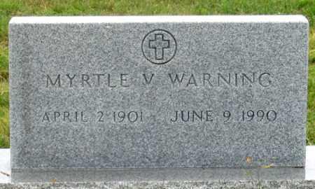 WARNING, MYRTLE V. - Dundy County, Nebraska | MYRTLE V. WARNING - Nebraska Gravestone Photos