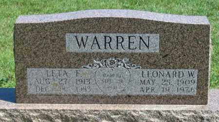 JOHNSON WARREN, LETA F. - Dundy County, Nebraska   LETA F. JOHNSON WARREN - Nebraska Gravestone Photos