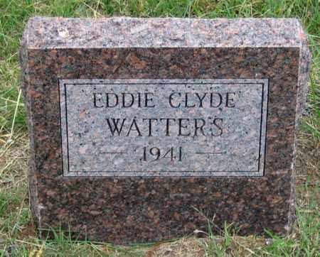 WATTERS, EDDIE CLYDE - Dundy County, Nebraska   EDDIE CLYDE WATTERS - Nebraska Gravestone Photos