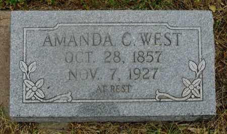 WEST, AMANDA C. - Dundy County, Nebraska   AMANDA C. WEST - Nebraska Gravestone Photos