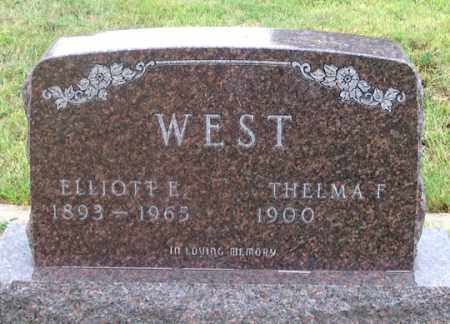 WEST, THELMA F. - Dundy County, Nebraska | THELMA F. WEST - Nebraska Gravestone Photos