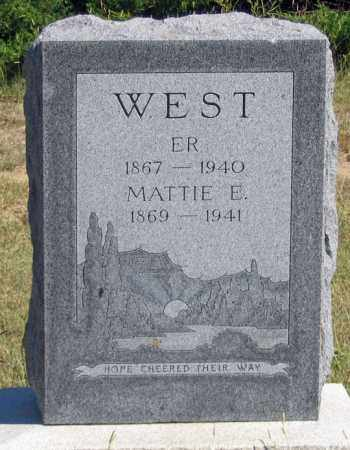 "WEST, MARTHA ""MATTIE"" - Dundy County, Nebraska 
