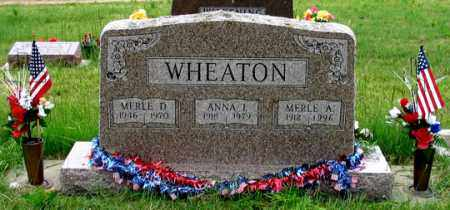 WHEATON, ANNA L. - Dundy County, Nebraska | ANNA L. WHEATON - Nebraska Gravestone Photos