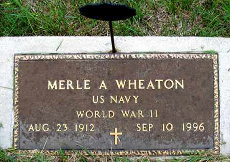 WHEATON, MERLE A. - Dundy County, Nebraska | MERLE A. WHEATON - Nebraska Gravestone Photos