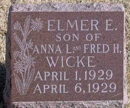 WICKE, ELMER E. - Dundy County, Nebraska | ELMER E. WICKE - Nebraska Gravestone Photos