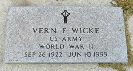WICKE, VERN F. - Dundy County, Nebraska | VERN F. WICKE - Nebraska Gravestone Photos