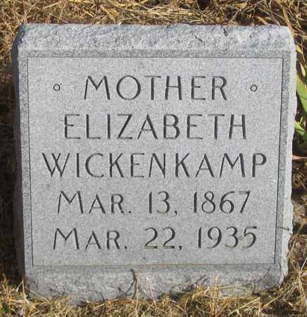 WICKENKAMP, ELIZABETH - Dundy County, Nebraska | ELIZABETH WICKENKAMP - Nebraska Gravestone Photos