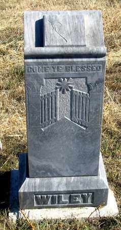 WILEY, FAMILY HEADSTONE FRONT - Dundy County, Nebraska | FAMILY HEADSTONE FRONT WILEY - Nebraska Gravestone Photos