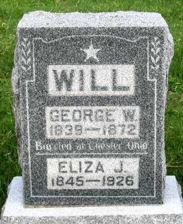WILL, ELIZA J. - Dundy County, Nebraska | ELIZA J. WILL - Nebraska Gravestone Photos