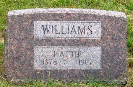 WILLIAMS, HATTIE - Dundy County, Nebraska | HATTIE WILLIAMS - Nebraska Gravestone Photos