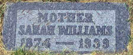 WILLIAMS, SARAH - Dundy County, Nebraska | SARAH WILLIAMS - Nebraska Gravestone Photos