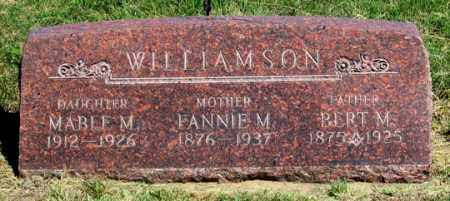 WILLIAMSON, FANNIE M. - Dundy County, Nebraska | FANNIE M. WILLIAMSON - Nebraska Gravestone Photos