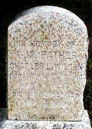 WILSON, CHARLES LOUIS - Dundy County, Nebraska   CHARLES LOUIS WILSON - Nebraska Gravestone Photos