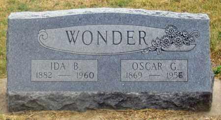 WONDER, OSCAR G. - Dundy County, Nebraska | OSCAR G. WONDER - Nebraska Gravestone Photos