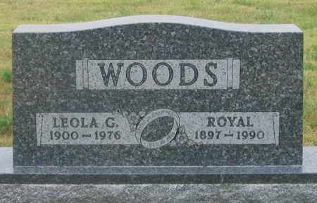 JONES WOODS, LEOLA GRACE - Dundy County, Nebraska | LEOLA GRACE JONES WOODS - Nebraska Gravestone Photos