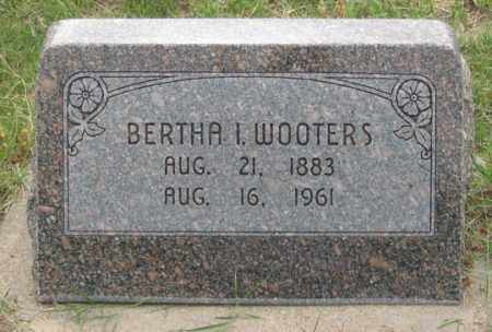 WOOTERS, BERTHA I. - Dundy County, Nebraska | BERTHA I. WOOTERS - Nebraska Gravestone Photos