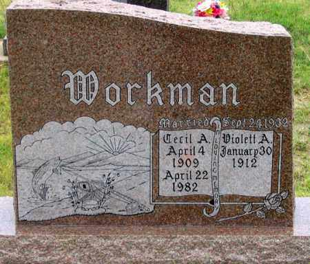 WORKMAN, CECIL ALBERT - Dundy County, Nebraska | CECIL ALBERT WORKMAN - Nebraska Gravestone Photos