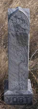 YOST, FRED M. - Dundy County, Nebraska   FRED M. YOST - Nebraska Gravestone Photos