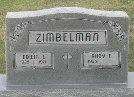 ZIMBELMAN, RUBY F. - Dundy County, Nebraska | RUBY F. ZIMBELMAN - Nebraska Gravestone Photos