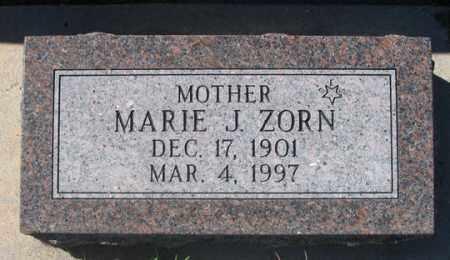 ZORN, MARIE J. - Dundy County, Nebraska | MARIE J. ZORN - Nebraska Gravestone Photos