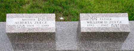 ZUEGE, WILLIAM H. - Dundy County, Nebraska | WILLIAM H. ZUEGE - Nebraska Gravestone Photos