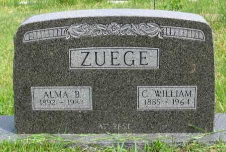 ZUEGE, ALMA BERTHA - Dundy County, Nebraska | ALMA BERTHA ZUEGE - Nebraska Gravestone Photos