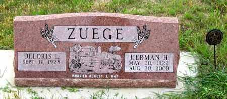 ZUEGE, HERMAN H. - Dundy County, Nebraska | HERMAN H. ZUEGE - Nebraska Gravestone Photos