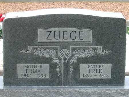 ZUEGE, ERMA SARAH - Dundy County, Nebraska | ERMA SARAH ZUEGE - Nebraska Gravestone Photos