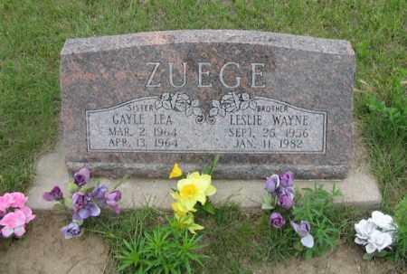 ZUEGE, GAYLE LEA - Dundy County, Nebraska | GAYLE LEA ZUEGE - Nebraska Gravestone Photos