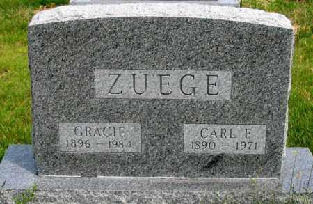 ZUEGE, GRACIE BELL - Dundy County, Nebraska   GRACIE BELL ZUEGE - Nebraska Gravestone Photos