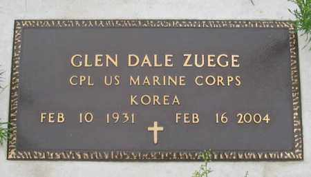 ZUEGE, GLEN DALE - Dundy County, Nebraska | GLEN DALE ZUEGE - Nebraska Gravestone Photos