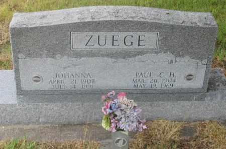 ZUEGE, JOHANNA WILHEMINE - Dundy County, Nebraska   JOHANNA WILHEMINE ZUEGE - Nebraska Gravestone Photos