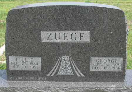 ZUEGE, GEORGE - Dundy County, Nebraska | GEORGE ZUEGE - Nebraska Gravestone Photos