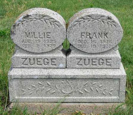 ZUEGE, FRANK - Dundy County, Nebraska | FRANK ZUEGE - Nebraska Gravestone Photos