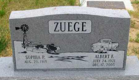 ZUEGE, ALBERT F. - Dundy County, Nebraska | ALBERT F. ZUEGE - Nebraska Gravestone Photos