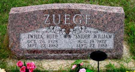 ZUEGE, TWILLA RUTH - Dundy County, Nebraska | TWILLA RUTH ZUEGE - Nebraska Gravestone Photos