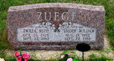 ZUEGE, TWILLA RUTH - Dundy County, Nebraska | TWILLA RUTH ZUEGE - Nebraska Gravestone Photos
