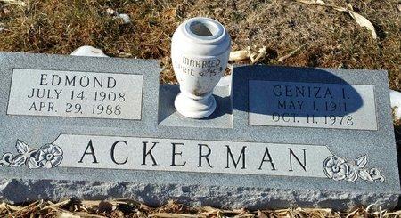 ACKERMAN, GENIZA IRENE - Fillmore County, Nebraska | GENIZA IRENE ACKERMAN - Nebraska Gravestone Photos