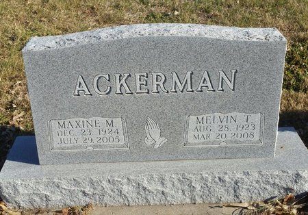 ACKERMAN, MELVIN THEODORE - Fillmore County, Nebraska | MELVIN THEODORE ACKERMAN - Nebraska Gravestone Photos