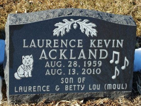 ACKLAND, LAURENCE KEVIN - Fillmore County, Nebraska | LAURENCE KEVIN ACKLAND - Nebraska Gravestone Photos